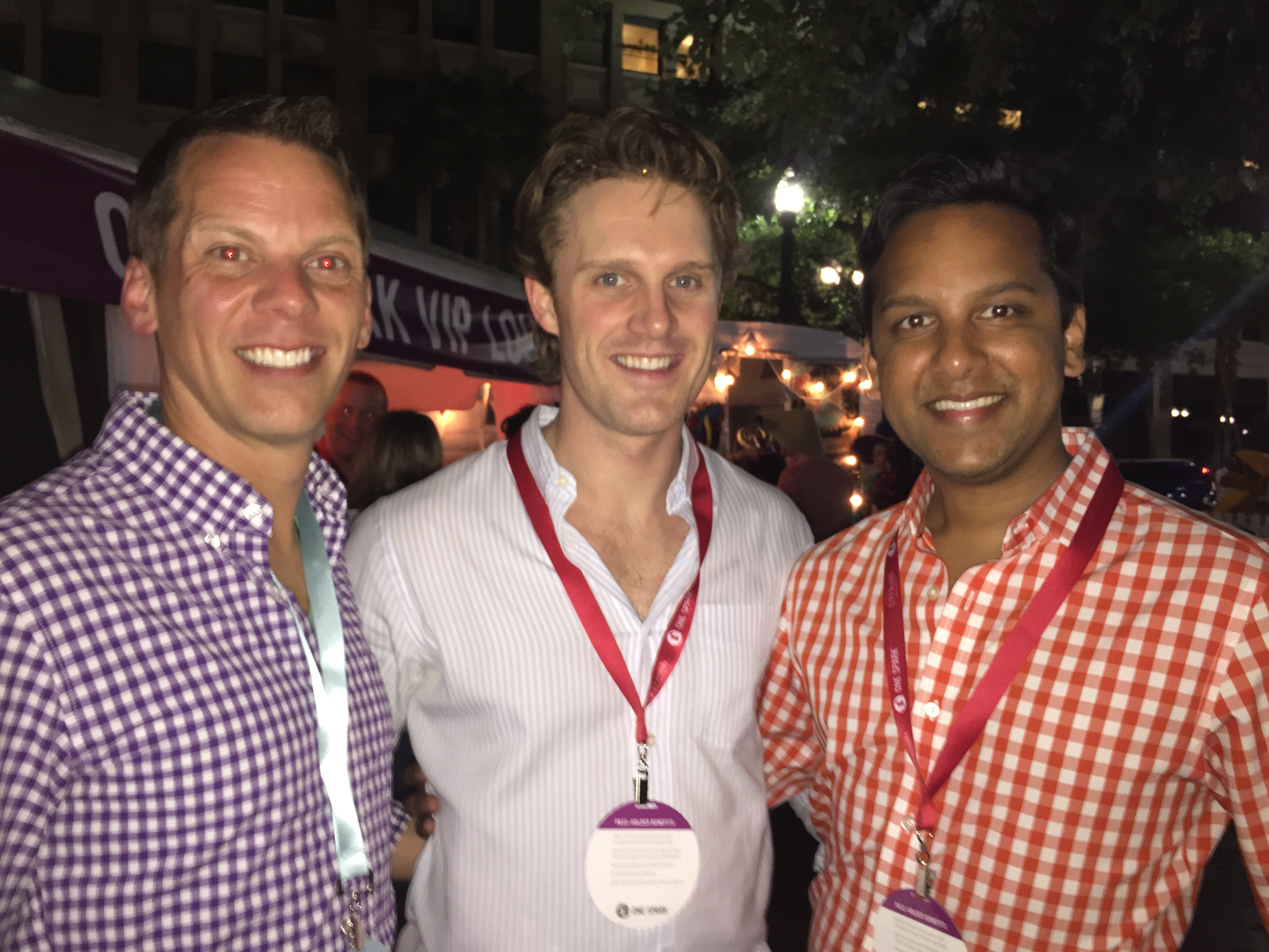 Opening night of OneSpark 2015 with Abel Harding and Ryan Ali.