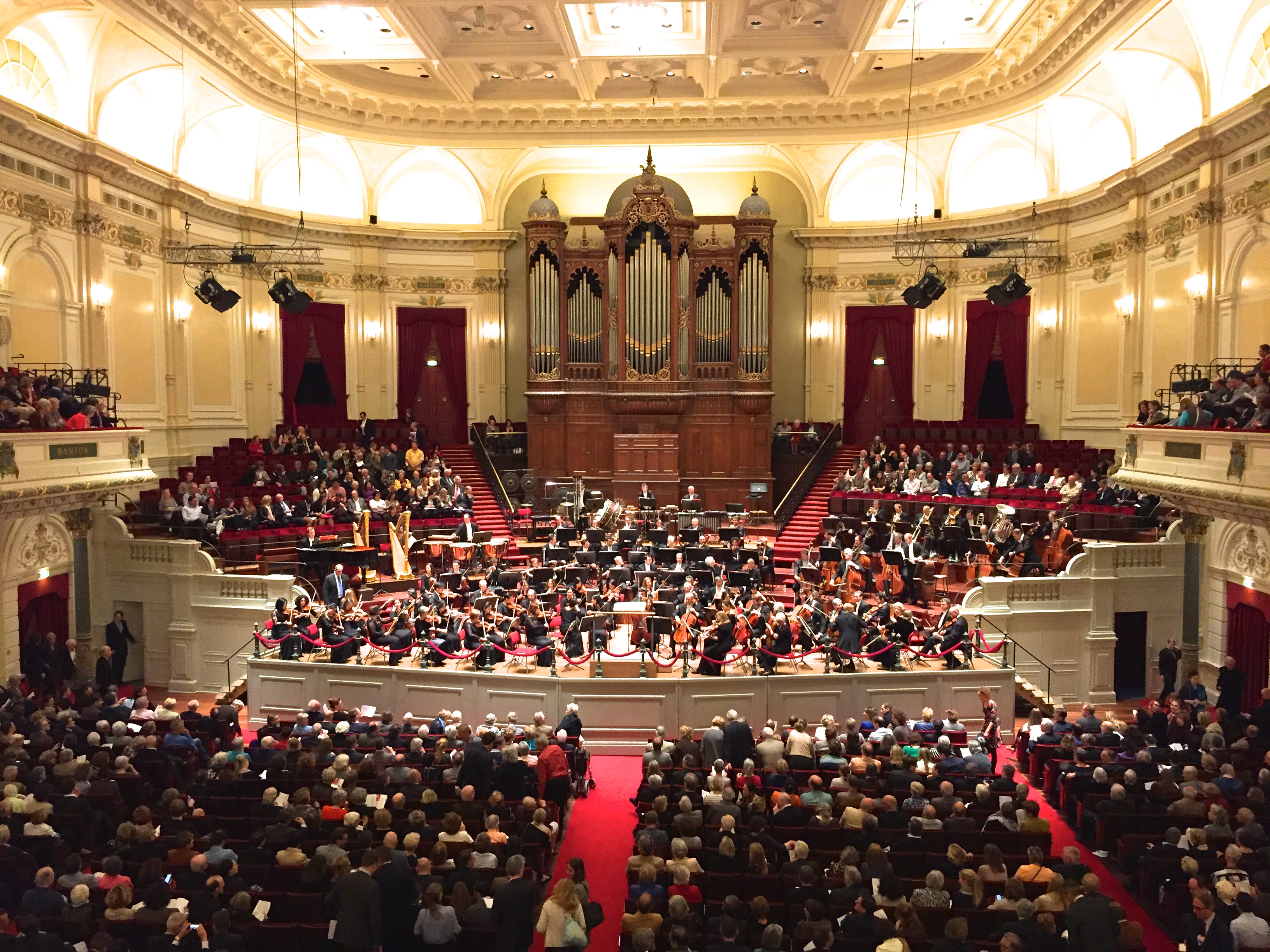 The breathtaking interior or Amsterdam's Concertgebouw.