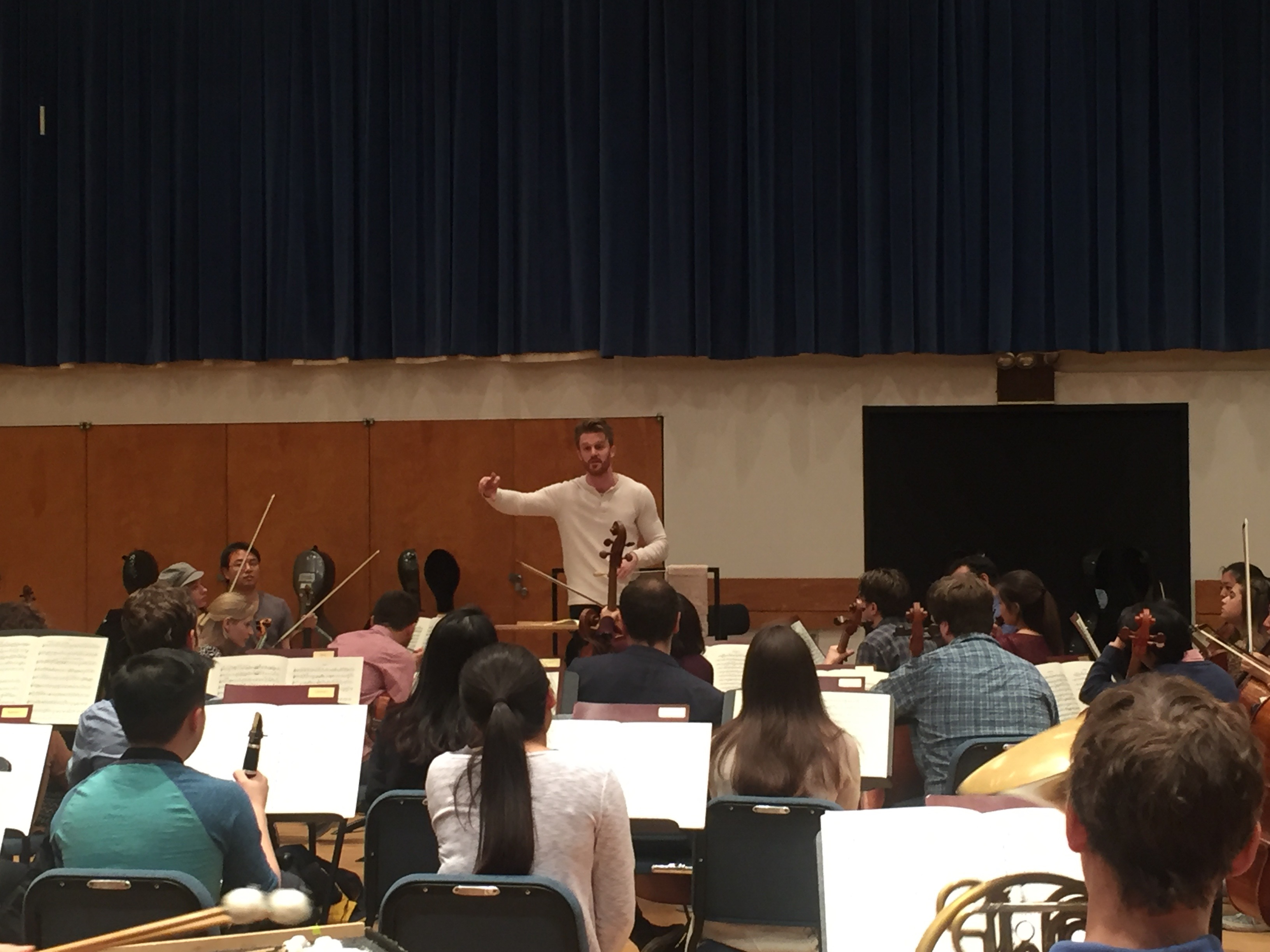 Rehearsing the Juilliard Orchestra